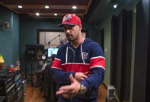 На студии в Нью-Йорке